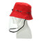 Anti-spitting Protective Mask Hat Anti-fog Anti-Splash Fisherman Full Face Cap   - Red