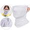 Unisex Breathable Quick-Drying Sunshade Anti-UV400 Flexible Soft Multi-Functional Face Mask Hat - White