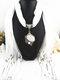 Bohemian Irregular Resin Accessories Alloy Base Women Tassel Pendant Scarf Necklace - #04