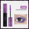 3D Colorful Mascara Long Curling Thick Waterproof Lasting Not Faded Eye Makeup - Purple