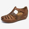 LOSTISY Women Breathable Beach Casual Wedges Sandals - Brown