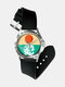 Fashion Geometric Impressionism Abstract Color Block Printed Watch - #4