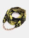 Vintage Chiffon Women Scarf Necklace Beaded Pendant Spring-Summer Sunscreen Scarf - #01