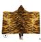 130*150cm Animals Stripes Hooded Blanket Air Conditioning Children Soft Warm Plush Winter Blanket