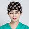 Cappellino chirurgico da donna in cotone elasticizzato con stampa a costine, in cotone puro grigio estetista