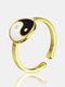 خاتم قابل للتعديل من التيتانيوم الصلب على الطراز الصيني - ذهب