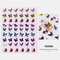 3D Waterproof Butterfly Nail Art Stickers Cute Simulation Laser Watermark Manicure Decorations Stickers - 8