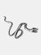 Alloy Vintage Snake-shape Animal Ear Clip Earrings - Silver