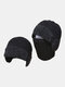 Men Dual-use Detachable Mask Plus Thick Warm Windproof Face Ear Protection Headgear Knitted Hat For Riding - Black