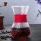 高温耐性ガラスコーヒーメーカーポットエスプレッソコーヒーマシン - 赤1