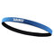 Sports Headband Anti-Slip Elastic Rubber Sweatband Football Yoga Tennis Badminton Running Hairband - Blue