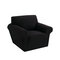 1/2/3 seaters Elastic Universal Sofa Cover Knitted Thicken Stretch Slipcovers for Living Room Couch Cover Armchair Cover - Black
