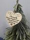 Placa de madeira para presente pendurada com chip de Natal de madeira Pingente Coração Decoração de garrafa de vinho em forma de etiquetas para casa - #06
