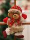 1 Pc arbre de noël accessoires noël petites poupées bonhomme de neige cerf ours tissu marionnettes petit pendentif suspendu cadeau - #04