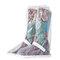 Men Waterproof Slip Resistant High Top Side Zipper Rain Boots Covers - White
