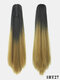 15 Colors Ponytail Gradient High Temperature Fiber Breathable Long Straight Hair Extensions - #01