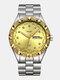 Large Dial Men Business Watch Steel Band Luminous Calendar Waterproof Quartz Watch - #02