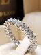 Trendy Geometric Metal Diamond Rings Temperament Rhinestone Rings - #13