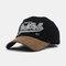 New Fashion Baseball Cap Retro Sun Hat Embroidery Hats - Black