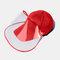 COLLROWN Unisex Lightweight Hat Anti-fog Removable Sun Visor - Red