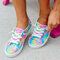 Women Hand Painted Decor Shallow Comfy Breathable Casual Flats - Colorful