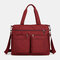 Large-Capacity Shoppping Bag  Multi-Portable Shoppping Bag Lightweight Shopping Bag Mummy's  Shoppping Bag - Wine Red