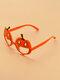 Halloween Unisex PC Cartoon Pumpkin-shape Irregular Decorative Glasses - #01