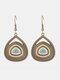 Vintage Colorful Drop-shaped Earrings Temperament Alloy Geometric Earrings - #01