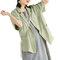 Einfarbiger Kurzarm-Umschlagkragen-Blazer für Damen - Grün