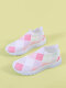 Casual Fruit & Heart Printing Multi Colored Sneakers For Womens - Pink