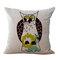 Многоцветный мультфильм милая сова Шаблон льняная хлопковая наволочка для дома диван для офиса офис наволочки