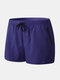 Mens Beach Board Shorts Waterproof Jogging Running Sports Breathable Gym Training Fitness Pants - Navy