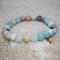 Bohemian Multicolor Crystal Beaded Bracelets Amethyst Elastic Rope Tassel Pendant Women Jewelry - #05
