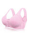 Wireless Front Closure Print Soft Gather Bras By Newchic - Cameo