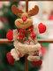1 Pc arbre de noël accessoires noël petites poupées bonhomme de neige cerf ours tissu marionnettes petit pendentif suspendu cadeau - #03