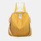 Women Star Rivet Waterproof Multi-carry Handbag Shoulder Bag Backpack - Yellow