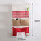 Stripe Lattice Hanging Organizer with Pockets Fabric Wall Door Storage Home Closet Organizing Bags - #4