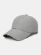 Unisex Quick-dry Solid Color Travel Sunshade Breathable Baseball Hat - Gray