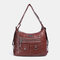 Women Multi-carry Waterproof Hardware Anti-theft Crossbody Bag Shoulder Bag Backpack - Brown