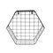 Железная сетка настенная полка с геометрическим рисунком