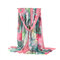 Scialle lungo multicolore stampato sottile da donna