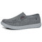 Men Old Peking Comfy Breathable Soft Walking Canvas Shoes - Gray