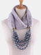 Bohemian Plush Imitation Pearl Necklace Autumn Winter Beaded Pendant Scarf Necklace - #05