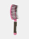 Hair Scalp Massage Comb Wet Curly Detangle Hair Arc Comb Salon Hairdressing Styling Tools - Pink