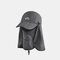 Sun Protection Foldable Cover Face Visor Outdoor Fishing Hat Summer Quick-drying Cap Breathable Hat Baseball Cap - Dark Gray