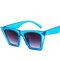 Gafas de sol coloreadas de la manera del marco generoso de la mujer vendimia gafas de sol