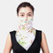 Women Breathable Printing Masks Ear-mounted Neck Protection Sunscreen Scarf Shawl - 01
