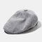 Outdoor Linen Thin Beret Hat Literary Forward Hat - Gray