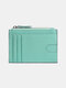 Men Genuine Leather RFID Coin Purse Push Card Holder Wallet - Green