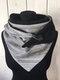 Sciarpa stampata con scialle a caldo spesso a righe da donna - Grigio